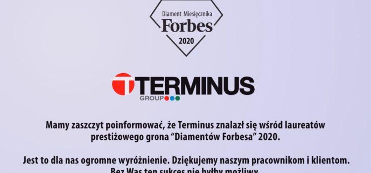 Terminus laureatem Diamentów Forbesa 2020